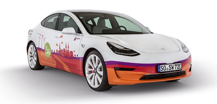 Tesla Model 3 von den Stadtwerken Soest zum Mieten
